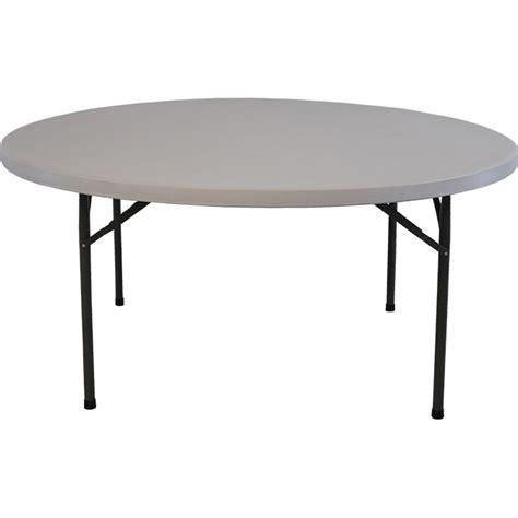 circle table l 63 quot resin folding table