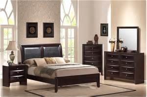 show details for emily 4pc queen platform bedroom set emily bedroom set in cherry dcg stores