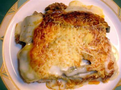 recette de cuisine avec pomme de terre recette de moussaka 224 ma fa 231 on avec pommes de terre