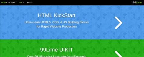 html kickstart themes 10 powerful html5 tools for web designers graphicbubbles