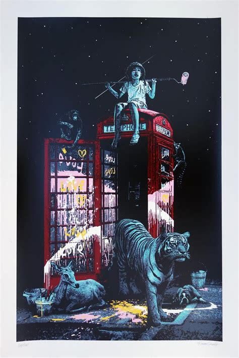 roamcouch london calling limited edition screen print
