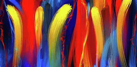 color painting be bold primary colors abstract art painting by lourry