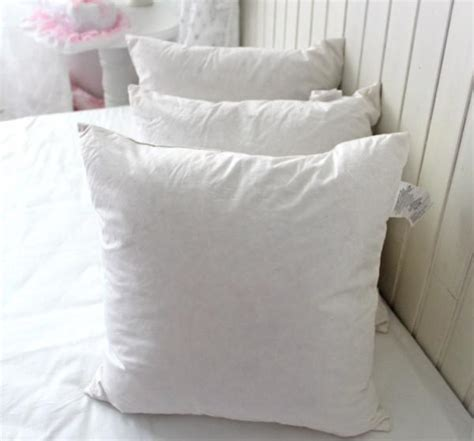 cotton wholesale washable duck feather cushion inserts for