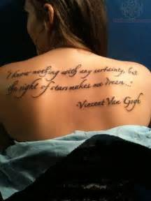 dream quote tattoo on back