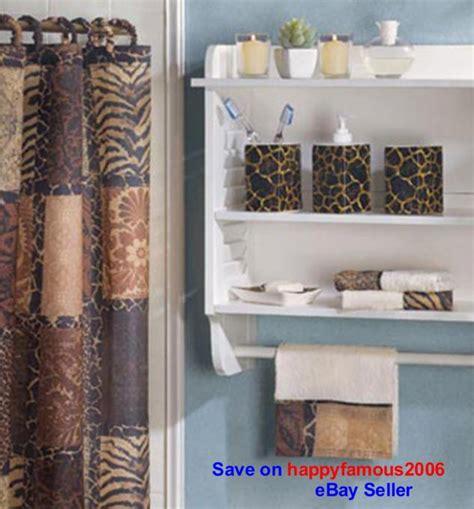 african safari bathroom decor savannah complete bath decor african safari curtain