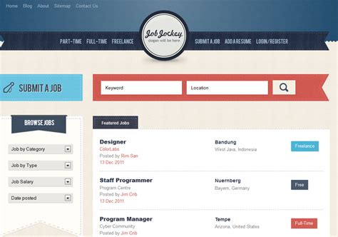 employment websites best board themes templates for