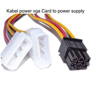 Kabel Vga Card kabel power vga ke power supply praktis tokokomputer007