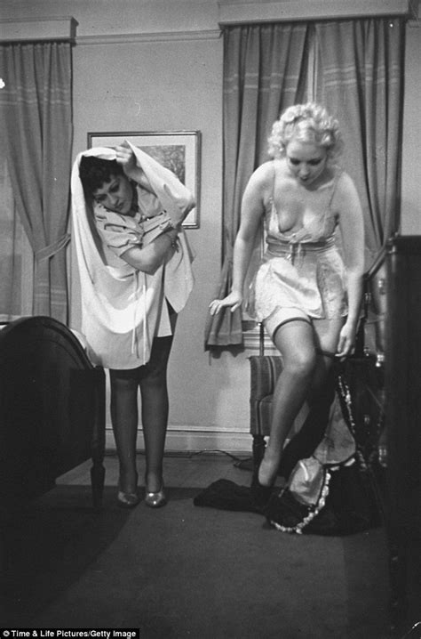 girl undressing in bedroom life magazine life publishes step by step guide in 1930s