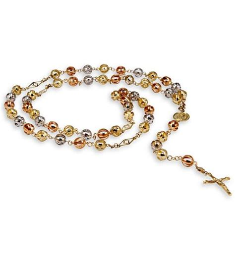 gold rosary bead necklace white gold rosary bead necklace rosary bead necklace