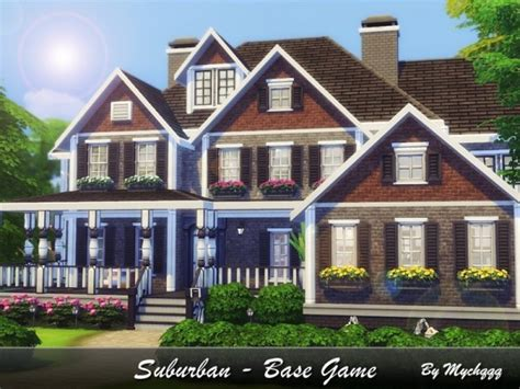 suburban houses the sims resource suburban house by mychqqq sims 4 downloads