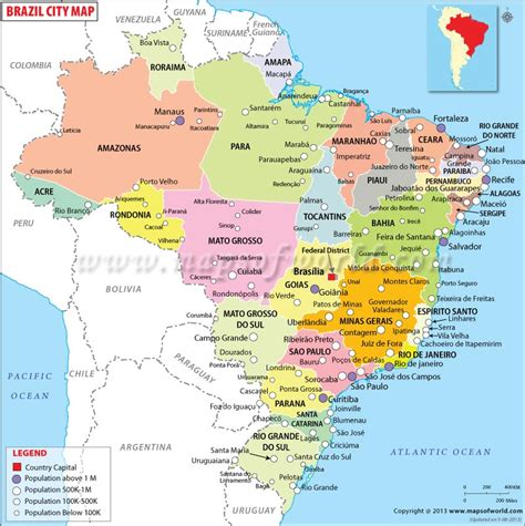 map of brasil cities in brazil map of brazil cities