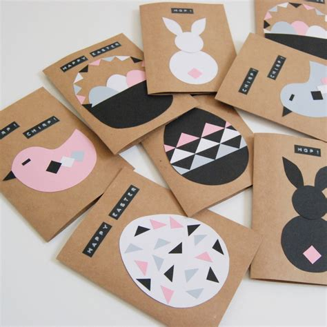 Craft Paper Cards - diy easter cards northstory