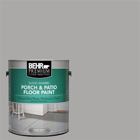 behr premium 1 gal pfc 68 silver gray gloss porch and