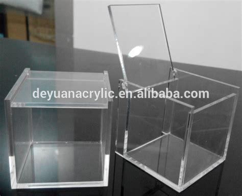 Kaca Acrylic transparent 6 sided acrylic boxes small acrylic box clear acrylic box wholesale buy small