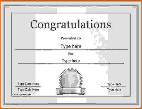 congratulations certificate word template 28 images