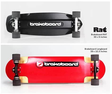 longboard skateboard with brake rat brakeboard skateboard fitted with revolutionary disc