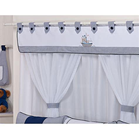cortina de bebe cortina quarto beb 234 cole 231 227 o ursinho navegador