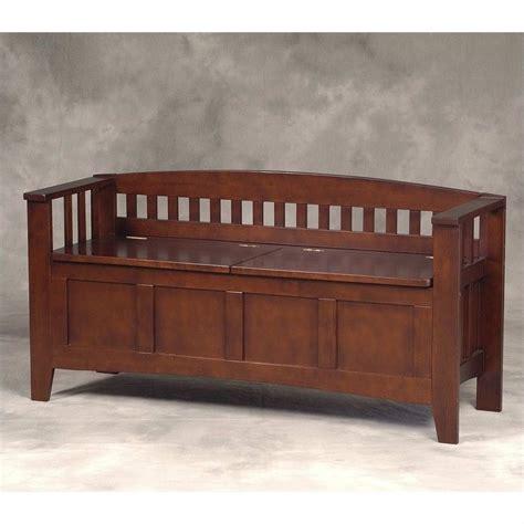 linon storage bench short split seat storage walnut bedroom benche ebay