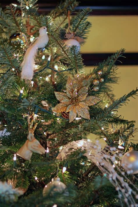 gold ornaments tree gold white tree all things kate