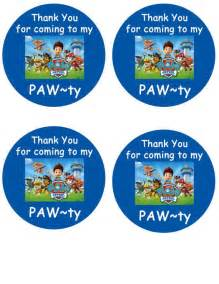 paw patrol inspired thank you tags by simplyforparties on