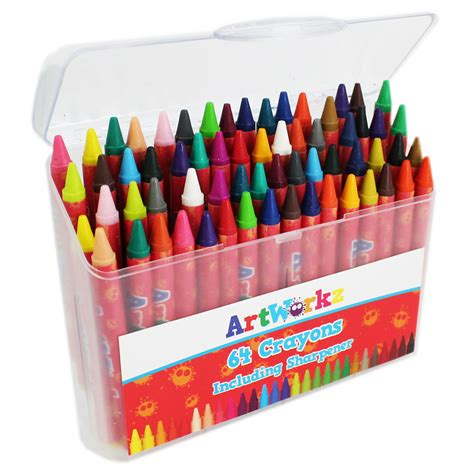 chagne and wax crayons 190779493x wax crayons set of 64 kids crayons at the works