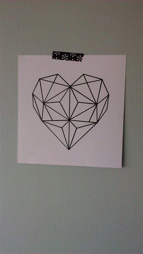 geometric heart tattoo best 25 geometric ideas on the and