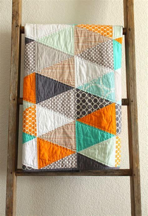 Triangle Patchwork Quilt - best 25 orange quilt ideas on quilts