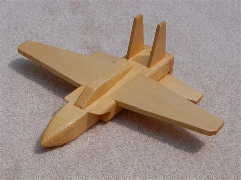 wooden jet airplane toy pine