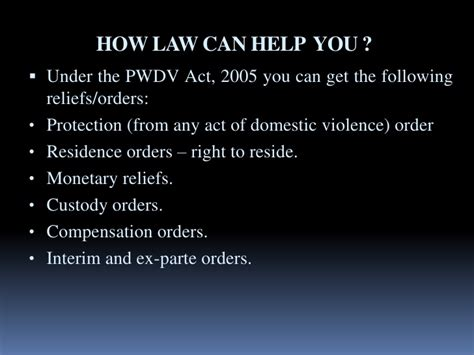 section 5 domestic violence act domestic violence act 2005