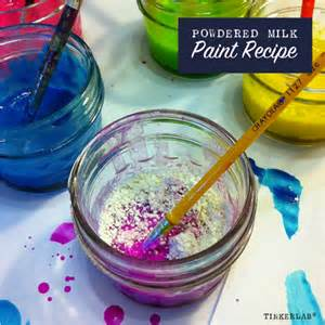 powdered milk paint recipe for kids tinkerlab