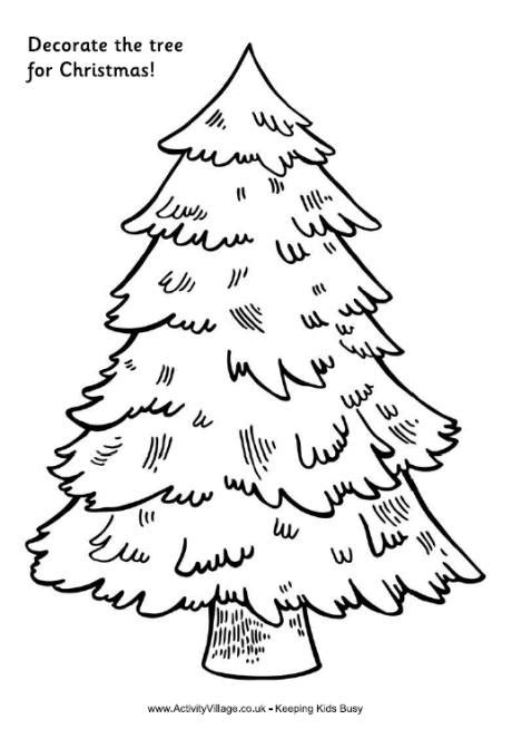 printable christmas tree drawing decorate the tree for christmas tree printable