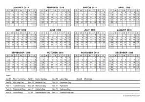 Calendar 2018 Pdf With Holidays 2018 Pdf Yearly Calendar With Holidays Free Printable
