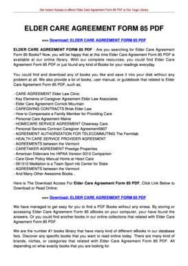 caregiver agreement template elder care agreement form 85 fill printable