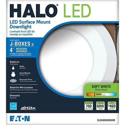 halo led disc light halo sld405830whr 4 in matte white recessed led 3000k