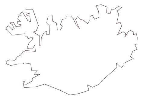 iceland map coloring page map of iceland terrain area and outline maps of iceland