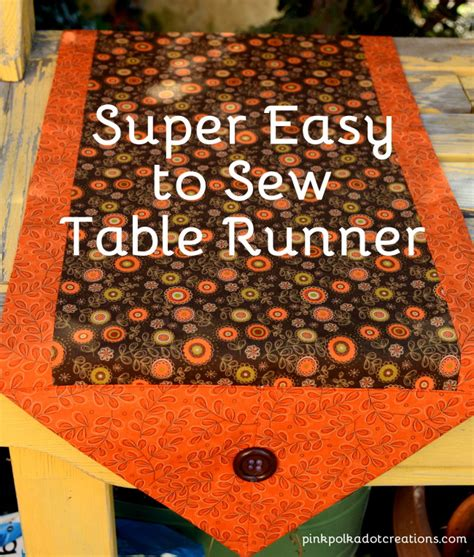 sew easy table easy to sew table runner pink polka dot creations