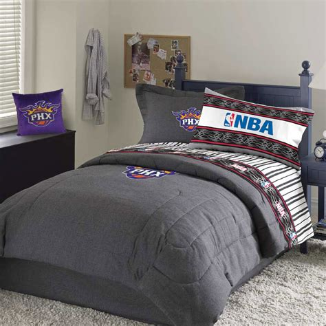Nba Bedroom Decor by Suns Team Denim Size Nba Comforter Sheet Set