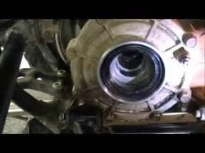 660 grizzly rear seal replacement youtube