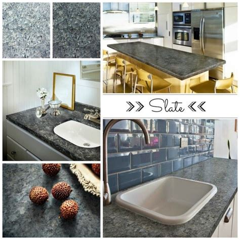 Diy Laminate Countertop Makeover by Slate Collage Kitchen Countertop Paint Slate Gray