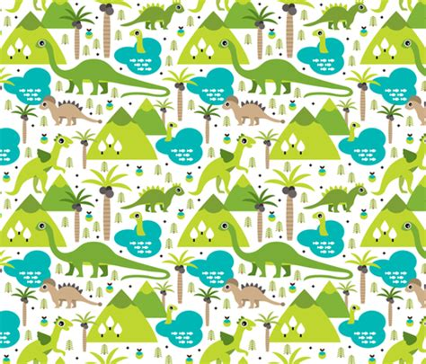 the cool web pattern of children s reading cute dinosaur woodland illustration pattern cute dino