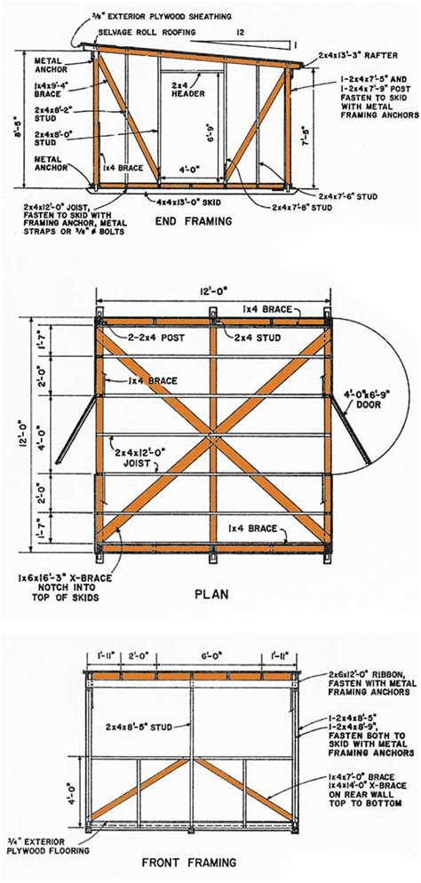 Free 12x12 Shed Blueprints by Shetomy More Free 12x12 Shed Plans