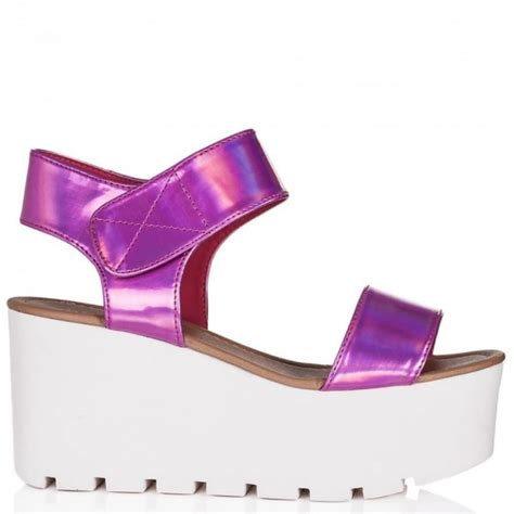 buy sun wedge heel platform flatform sandal shoes pink