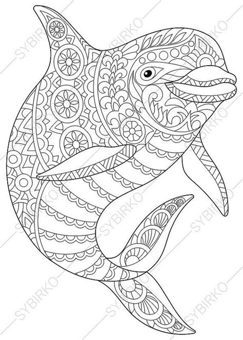 coloring pages  adults dolphin adult coloring pages