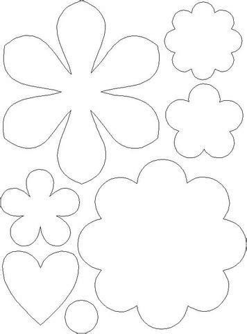 Modelos de flores para imprimir - Artesanato Passo a Passo!