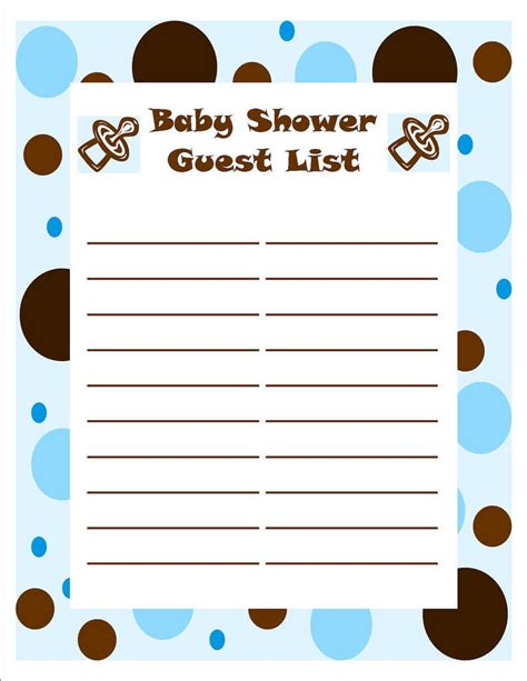 6 guest list template authorizationletters org