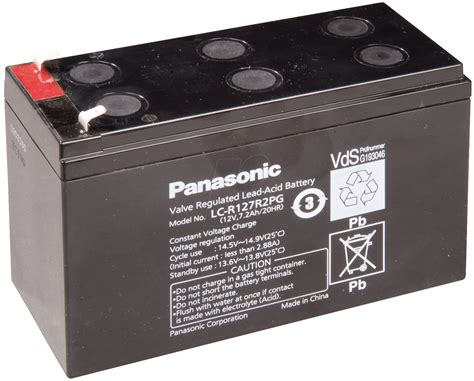 Baterai Ups Panasonic 12 V 72 Ah Diskon lcr 12v 7 2p lead battery 12 volt 7 2 ah 94 x 151 x 65