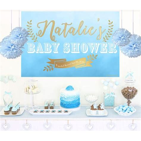 backdrop for baby shower table baby shower it s a boy cake table backdrop