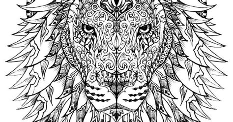 hard lion coloring pages free coloring page coloring adult difficult lion head