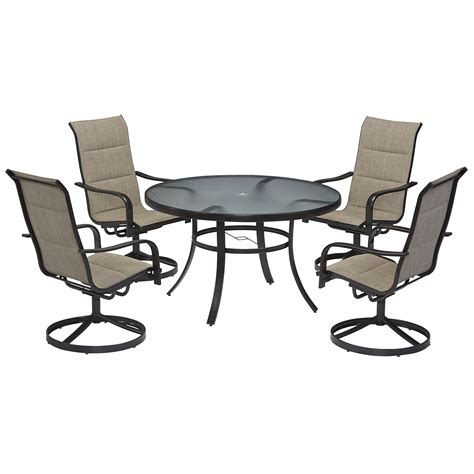 Patio Chairs Sears Garden Oasis Miranda 5 Dining Set Outdoor Living
