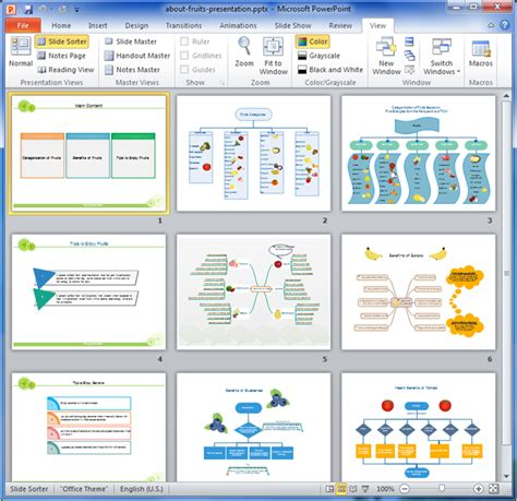 presentation layout exles presentation exle about fruits